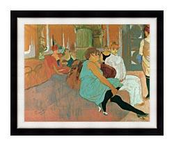 Henri De Toulouse Lautrec In The Salon Of The Rue Des Moulins canvas with modern black frame