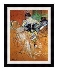 Henri De Toulouse Lautrec Study For Elles Woman In A Corset canvas with modern black frame