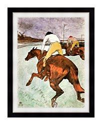 Henri De Toulouse Lautrec The Jockey canvas with modern black frame