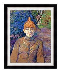 Henri De Toulouse Lautrec The Streetwalker canvas with modern black frame