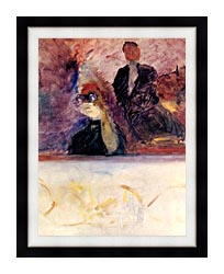 Henri De Toulouse Lautrec Theater Box With The Gilded Mask canvas with modern black frame