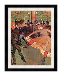 Henri De Toulouse Lautrec Training Of New Girls By Valentin The Boneless canvas with modern black frame