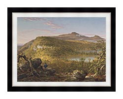 Thomas Cole A View Of The Two Lakes And Mountain House Catskill Mountains Morning canvas with modern black frame