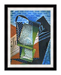 Juan Gris Abstraction canvas with modern black frame
