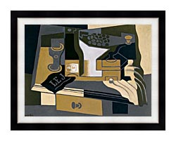 Juan Gris Coffee Grinder canvas with modern black frame