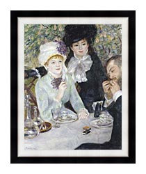 Pierre Auguste Renoir After The Luncheon canvas with modern black frame
