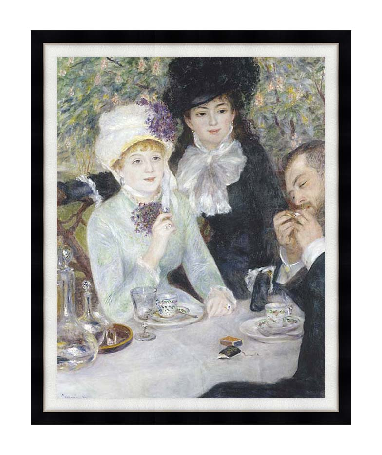 Pierre Auguste Renoir After the Luncheon with Modern Black Frame