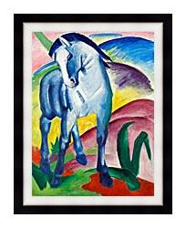 Franz Marc Blue Horse 1 canvas with modern black frame