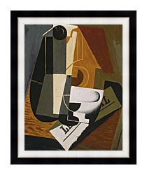 Juan Gris Coffee Pot canvas with modern black frame