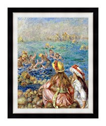 Pierre Auguste Renoir Baigneuses canvas with modern black frame