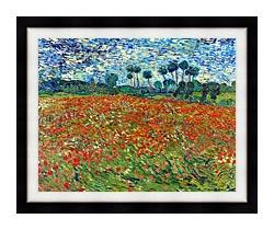 Vincent Van Gogh A Poppy Field canvas with modern black frame