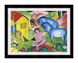 Franz Marc The Dream canvas with modern black frame