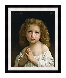 William Bouguereau Little Girl canvas with modern black frame