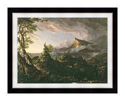 Thomas Cole The Course Of Empire The Savage State canvas with modern black frame
