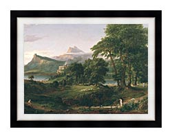 Thomas Cole The Course Of Empire The Arcadian Or Pastoral State canvas with modern black frame