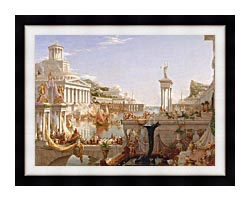 Thomas Cole The Course Of Empire The Consummation Of Empire canvas with modern black frame