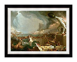 Thomas Cole The Course Of Empire Destruction canvas with modern black frame