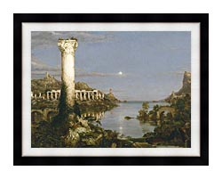 Thomas Cole The Course Of Empire Desolation canvas with modern black frame