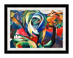 Franz Marc The Mandrill canvas with modern black frame
