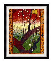 Vincent Van Gogh Flowering Plum Tree canvas with modern black frame