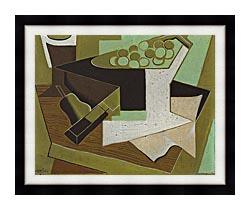 Juan Gris Grappe De Raisin Et Poire canvas with modern black frame