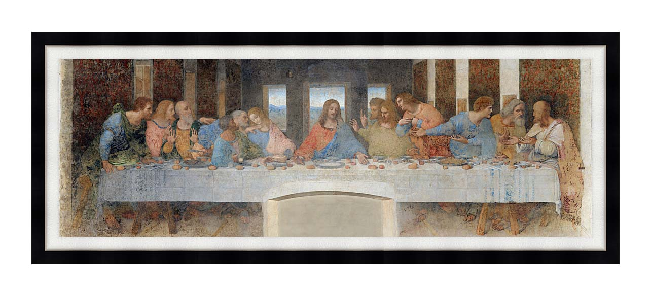 Leonardo Da Vinci The Last Supper 8x24 Framed Art - Canvas Giclee ...