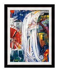 Franz Marc The Bewitched Mill canvas with modern black frame