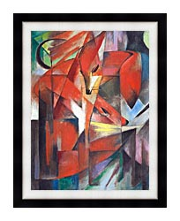Franz Marc The Foxes canvas with modern black frame