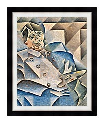 Juan Gris Portrait Of Pablo Picasso canvas with modern black frame
