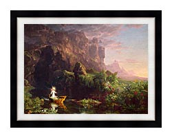Thomas Cole Voyage Of Life Childhood 1842 canvas with modern black frame