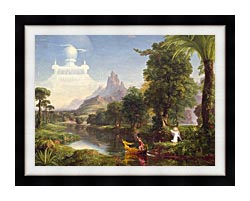 Thomas Cole Voyage Of Life Youth 1842 canvas with modern black frame