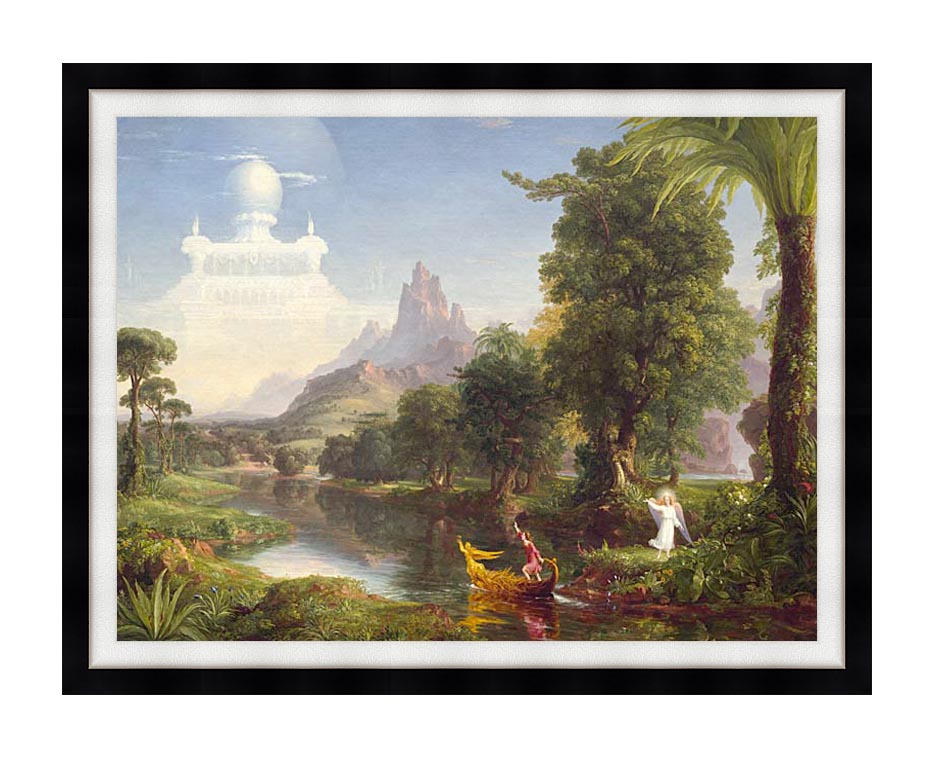 Thomas Cole Voyage of Life: Youth 1842 with Modern Black Frame