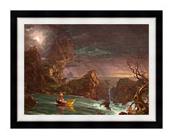 Thomas Cole Voyage Of Life Manhood 1842 canvas with modern black frame