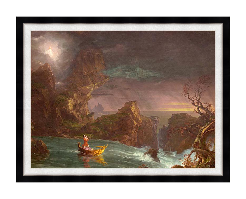 Thomas Cole Voyage of Life: Manhood 1842 with Modern Black Frame