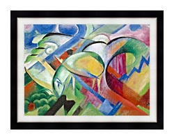 Franz Marc The Sheep canvas with modern black frame