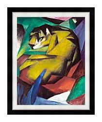 Franz Marc The Tiger canvas with modern black frame