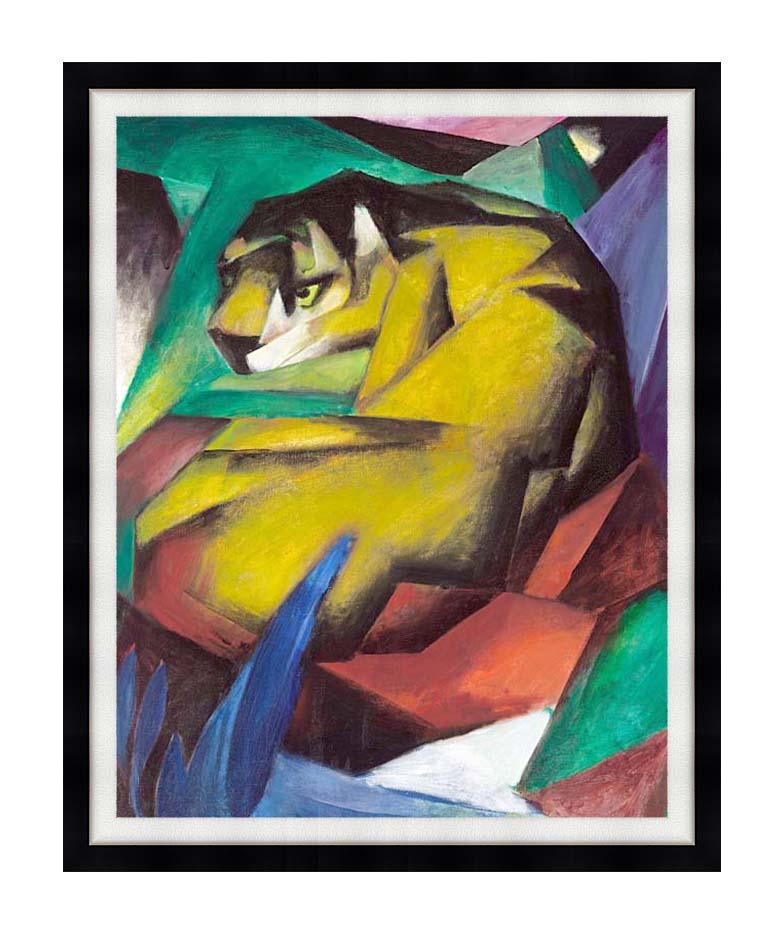 Franz Marc The Tiger with Modern Black Frame
