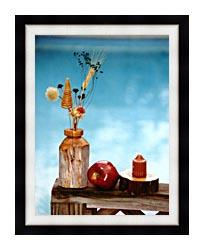 Ray Porter Autumn Still Life canvas with modern black frame