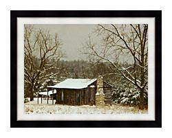 Ray Porter Cabin In The Woods canvas with modern black frame