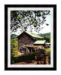 Ray Porter Old Mill canvas with modern black frame