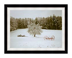 Ray Porter Crystal Tree canvas with modern black frame