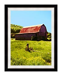 Ray Porter Country Springtime canvas with modern black frame
