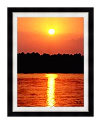 Ray Porter Red Sky At Night canvas with modern black frame