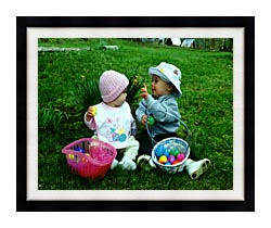 Ray Porter Our First Easter canvas with modern black frame