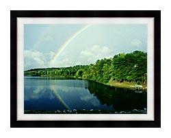 Ray Porter Rainbow canvas with modern black frame