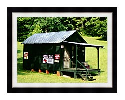 Ray Porter Country Store canvas with modern black frame