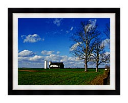Ray Porter Uncle Buds Barn canvas with modern black frame