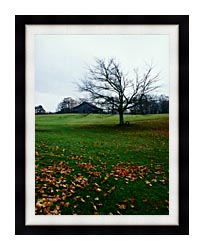 Ray Porter Winters Nye canvas with modern black frame