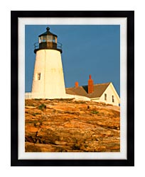 Visions of America Pemaquid Lighthouse Maine canvas with modern black frame