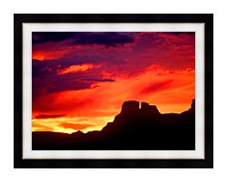 Visions of America Indian Ruins Chaco Canyon At Sunset New Mexico canvas with modern black frame